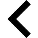Keyboard left arrow button