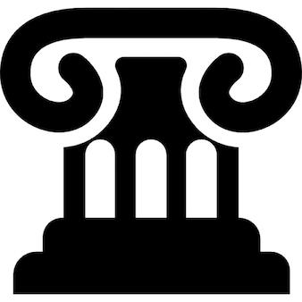 Law symbol of chapiter of a column