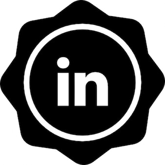 Linked in social badge