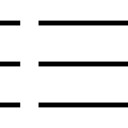 Listing lines button symbol of interface