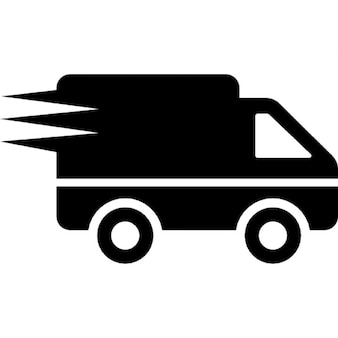 Logistics delivery truck in movement
