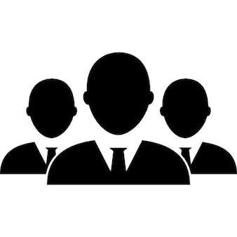 мужской деловой группа людей