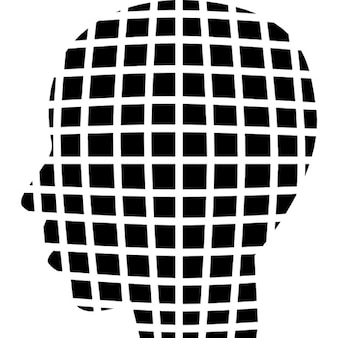 Male head shape of small squares