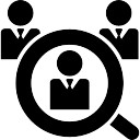 Male job search symbol