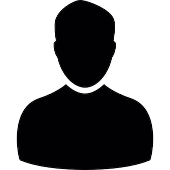 Male user silhouette
