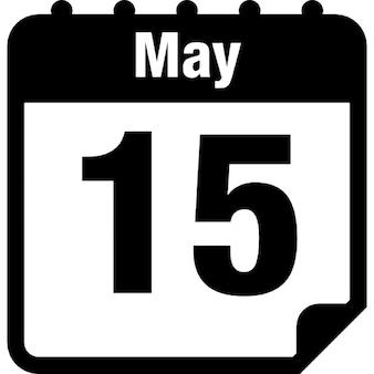 May 15 calendar page interface symbol