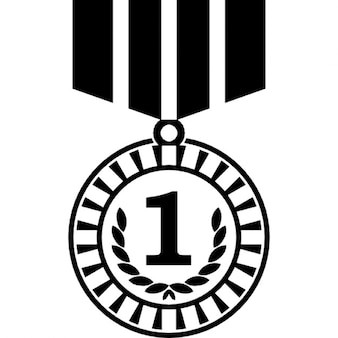 Medal of number one