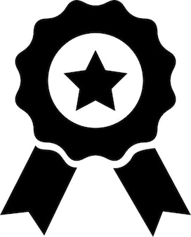 Medal with star and ribbon