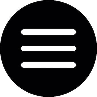 Menu circular button