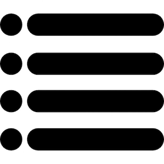 Menu interface symbol of four horizontal lines with dots