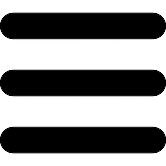 Menu symbol of three parallel lines