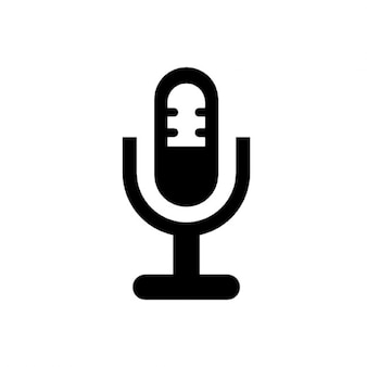 Microphone in a holder symbol
