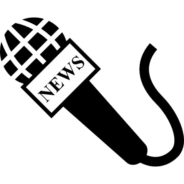 Microphone of news reporter
