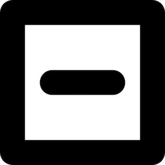 Minus sign inside a square outline