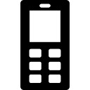 Mobile phone with buttons