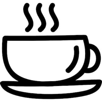 Mug coffee hand drawn symbol
