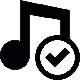 Music accept button