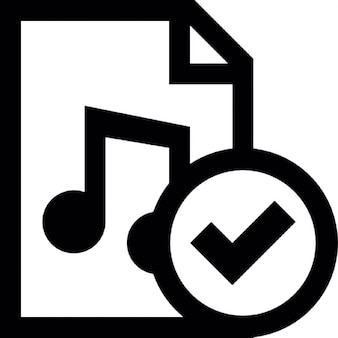 Music document accept button