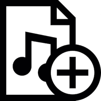 Music document add button