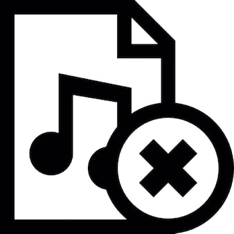 Music document cancel