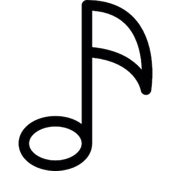 Musical note outline