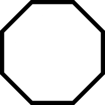 Octagon outline shape