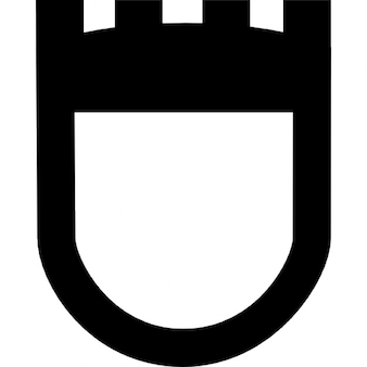 Old shield symbol