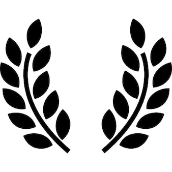 Olive branches award symbol