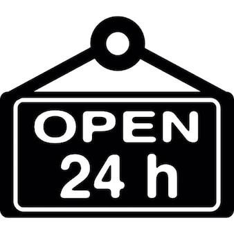 Open 24 hours signboard
