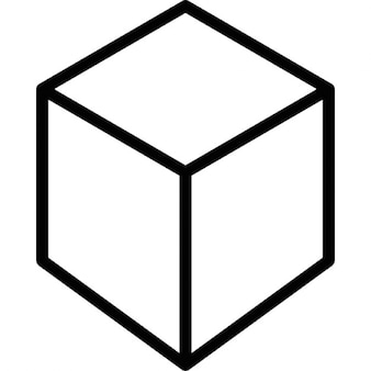 Outline of a cube