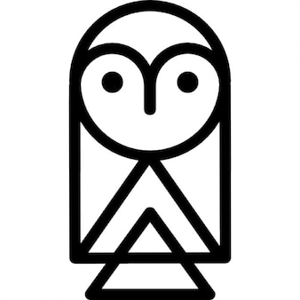 Owl cartoon outline