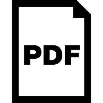 Pdf document interface symbol
