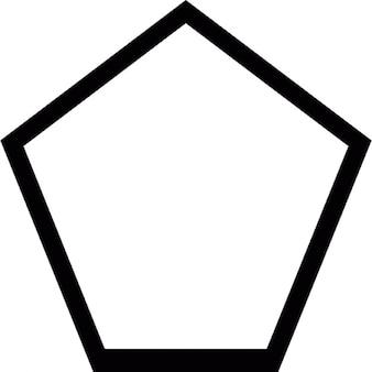 Pentagon geometric shape outline