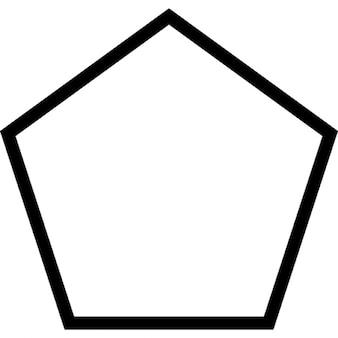 Pentagon outline shape