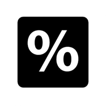 Percentage in a rounded square