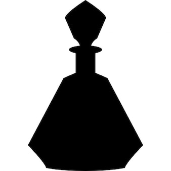 Perfume bottle with geometric edges