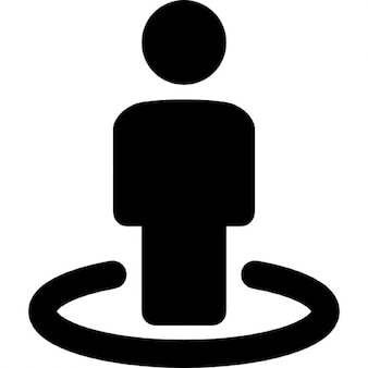 Person of street view symbol
