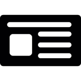 Personal card in black for business