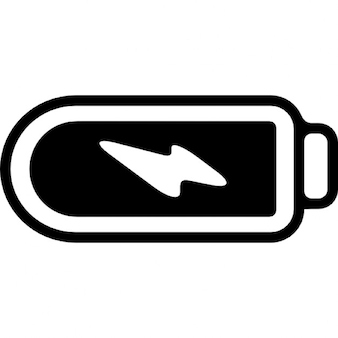 Phone battery with full charge and a bolt symbol