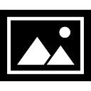 Photo framed interface symbol