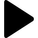 マルチメディアのための黒三角インタフェースシンボルを再生します