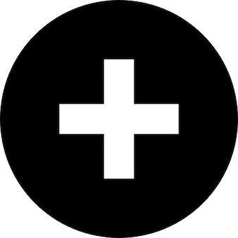円の中にプラス記号。ボタンを追加