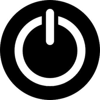 Power circular button symbol