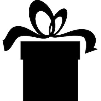 Present box black silhouette
