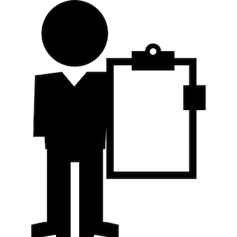 Professor with clipboard