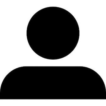 Profile user silhouette
