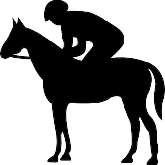 Quiet Horse With Jockey Silhouette