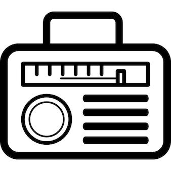 Radio of rounded rectangular shape design