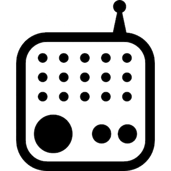 Radio tool of rounded square shape