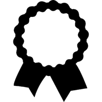 Recognition award label with ribbon tails